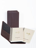 LEATHER MINI PLANNER.  INSIDE POCKET.  2.625 INCH X 4.25 INCH WEEKLY PLANNER.  2.625 INCH X 4.25 INCH TEL/ADDRESS BOOK.  IMPORT.