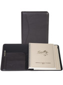 LEATHER DESK SIZE PLANNER.  INSIDE FRONT POCKETS WITH PEN LOOP.  6.75 INCH X 8.75 INCH WEEKLY PLANNER.  6.75 INCH X 8.75 INCH TEL/ADDRESS BOOK.  SCULLY PEN.  IMPORT.