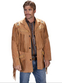 BOURBON BOAR LEATHER HAND MADE SUEDE JACKET FRINGED AND BEADED WESTERN STYLE AND DESIGNED JACKET  TOP QUALITY SCULLY PRODUCT