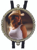 Sexy Cowgirl in the Summer Bolo Tie
