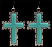 Angel Ranch Turquoise Cross Earrings