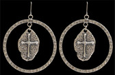 Angel Ranch Cross Earrings--Hypoallergenic