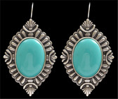 Angel Ranch Turquoise Diamond Earrings