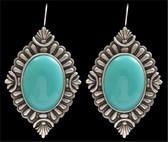 Angel Ranch Turquoise Diamond Earrings