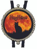 Happy Halloween Black Cat Bolo Tie