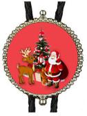 Santa and Rudolf Bolo Tie