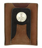 Western Wallet Mens Leather Money Clip Leather Brown