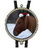 Christmas Horse Bolo Tie