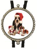 Christmas Basset Hound Bolo Tie