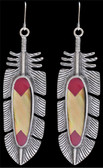 LoulaBelle Pink and Mother of Pearl Feather Earrings