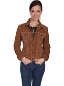 Cafe Brown Suede Leather Jacket