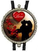 Cowboy Valentines Love Bolo Tie