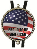 Proud To Be American Bolo Tie