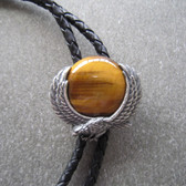 Flying Eagle with Tiger Eye Stone Bolo Tie