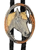 Horsehead Bolo Tie Oval Cutout Made in the USA