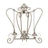 WESTERN COOK BOOK HOLDER CROSS CRYSTAL BROWN