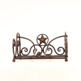 WESTERN NAPKIN HOLDER SILVERADO RUST