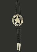 Mens Bolo Neck Tie Texas Ranger Star Silver