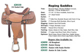 Roping Saddle By Circle G Made In The USA