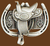Saddle & Horseshoes Belt Buckle 53439