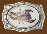 "Scorpion Belt Buckle  - 3-3/4"" x 2-3/4"""
