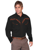 Scully Mens Western embroidered shirt