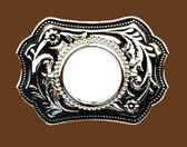 "Silver Dollar Belt Buckle, 3-3/4"" x 2-1/2"""