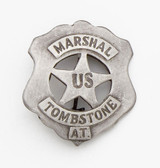 SILVER U.S. TOMBSTONE MOVIE OLD WEST MARSHALL BADGE