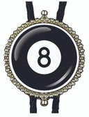 8 Eight Ball Bolo Tie