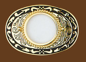 "Silver Dollar Belt Buckle, 3-1/2"" x 2-1/2"""