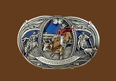 Small Championship Rodeo Belt Buckle,