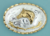 "Small Horsehead German Silver Buckle, 2-3/4"" x 2"" 8065"
