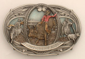 "Small Championship Rodeo Belt Buckle, 3"" x 2"""