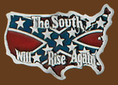 "South Will Rise Again Belt Buckle, 3""x 2"" 7733"