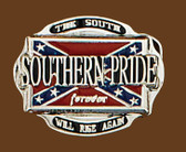 Southern Pride Belt Buckle, 3 x 2-1/2