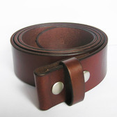 "SOLID GENUINE LEATHER BELT 1 1/2"" BROWN"