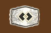 "Square Dance Belt Buckle, 3"" x 2-1/4"" 8013"