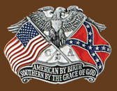 "Southern By The Grace of God Belt Buckle, 3"" x 2-1/4"""