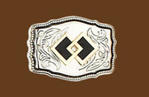 Square Dance Belt Buckle,