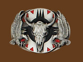 Steerhead & Eagle Belt Buckle