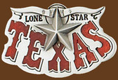 Texas Lone Star Belt Buckle