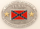 "Texas Battle Flag Belt Buckle, 4"" x 3"""