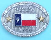 "Texas State Flag Belt Buckle, 4"" x 3"""