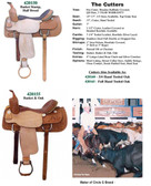 THE CUTTER SADDLE BULLHIDE COVERED PRO. 3 CHOICES