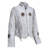 Ladies The White Buffalo Waist Fringed Lambskin Jacket