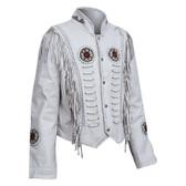 Ladies The White Buffalo Waist Fringed Lambskin Jacket
