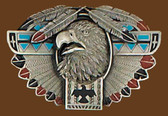 Thunderbird Totem/Feather Belt Buckle 53687