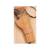 Tooled Antiqued Leather Holster  Western Rig