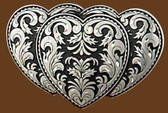 Triple Heart Belt Buckle,