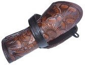 8 or 10 inch Tooled Cross Draw Holster